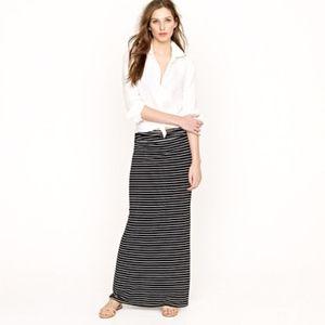 J.Crew Striped Knit Max Skirt